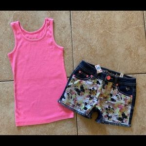 Girls Justice Outfit Top & Shorts 8